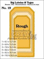 Crealies Labelzz & Tagzz:  Rough - stanssisetti