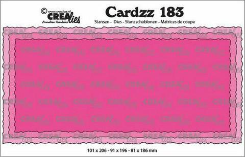 Crealies Cardzz: Slimline C - stanssisetti