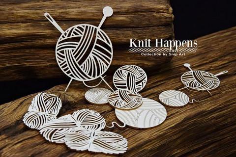 SnipArt: Knit Happens - Balls of wool set  - leikekuviopakkaus