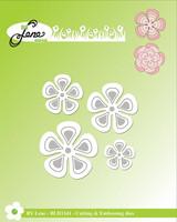 By Lene: Retro Flowers  -stanssisetti