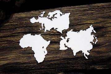 SnipArt: Up In The Air - Africa, Europe, Asia  - leikekuviopakkaus