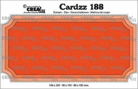 Crealies Cardzz: Slimline H Ticket - stanssisetti