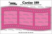 Crealies Cardzz: Slimline I Filmstrip - stanssisetti