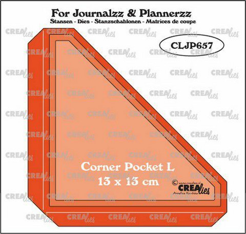 Crealies : For Journalzz & Plannerzz - Corner Pocket L - stanssisetti