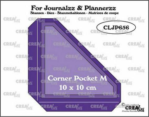 Crealies : For Journalzz & Plannerzz - Corner Pocket M - stanssisetti