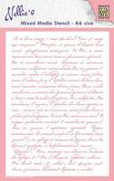 Nellies Choice Mixed Media A6 Stencil : Writing -sabluuna