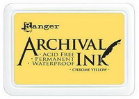 Archival Ink: Chrome Yellow - mustetyyny