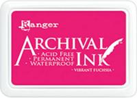 Archival Ink: Vibrant Fuchsia - mustetyyny