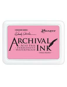 Archival Ink: Pink Peony - mustetyyny