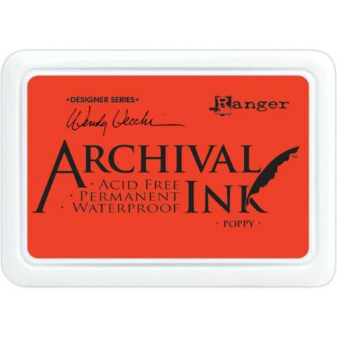 Archival Ink: Poppy  - mustetyyny