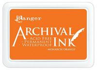 Archival Ink: Monarch Orange  - mustetyyny