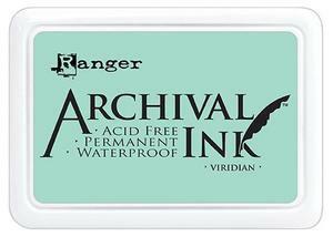 Archival Ink:  Viridian  - mustetyyny