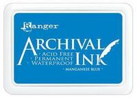 Archival Ink:  Manganese Blue - mustetyyny