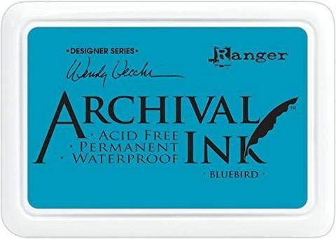 Archival Ink:  Bluebird  - mustetyyny