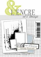 L'Encre et l'image: Grunge Postcard  -leimasin