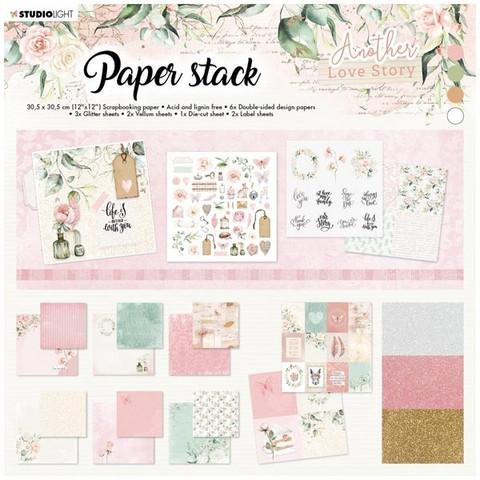 Studio Light  Another Love Story Paper Stack 12x12 - paperikokoelma