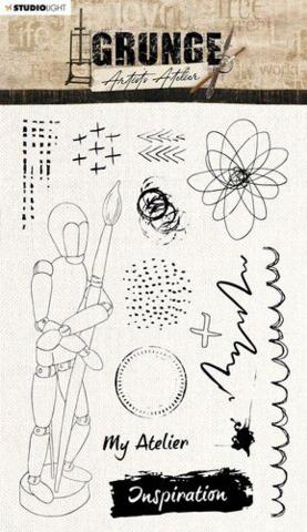 Studio Light: Artist's Atelier  #30  Clear Stamps A5 - leimasinsetti