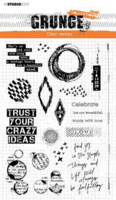 Studio Light: Grunge Collection  #43  Clear Stamps A5 - leimasinsetti