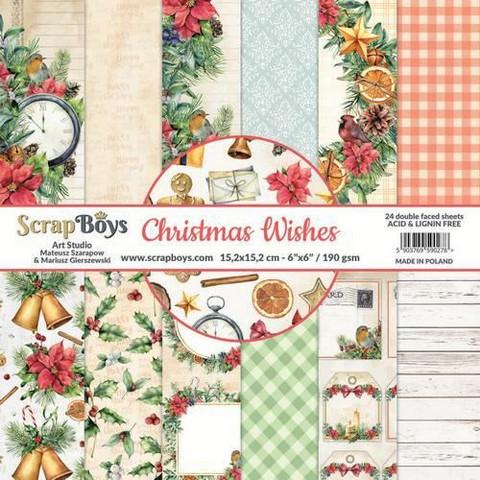 Scrapboys: Christmas Wishes 6x6 - paperikokoelma