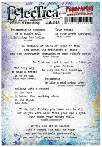 Paperartsy: AB - Friends & Friendship Ezmount A5 - leimasinsetti