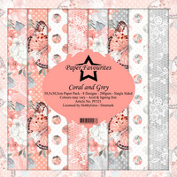 Paper Favourites: Coral and Grey 12x12 kokoelma