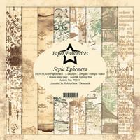 Paper Favourites: Sepia Ephemera 12x12 kokoelma