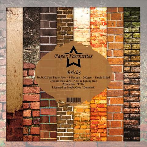Paper Favourites: Bricks 12x12 kokoelma