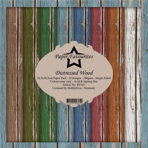 Paper Favourites: Distressed Wood 12x12 kokoelma