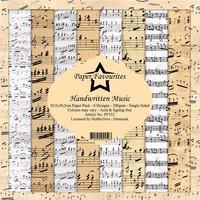 Paper Favourites: Handwritten Music 12x12 kokoelma