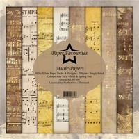 Paper Favourites: Music Papers 12x12 kokoelma