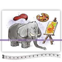 Katzelkraft: Elephant Van Gogh  A6 - unmounted leimasinsetti