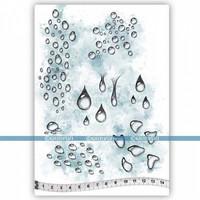 Katzelkraft: Les gouttes de pluie A5 - unmounted leimasinsetti
