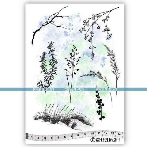 Katzelkraft: Les herbes folles  A5 - unmounted leimasinsetti