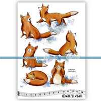 Katzelkraft: Veera Aro Les renards (Foxes)  A5 - unmounted leimasinsetti