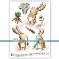 Katzelkraft: Veera Aro Les lapins (Bunnies)  A5 - unmounted leimasinsetti