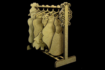 SnipArt: Vintage Boutique - Stand for hangers MDF