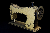 SnipArt: Vintage Boutique - Sewing Machine MDF
