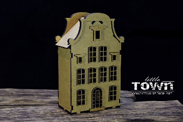 Snipart: Little Town - Tenement House #21 MDF