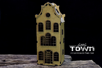 Snipart: Little Town - Tenement House #20 MDF