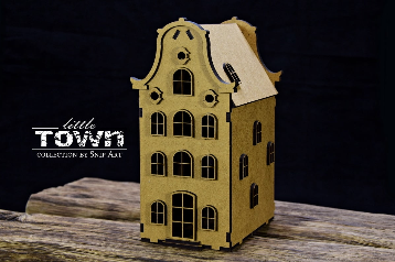 Snipart: Little Town - Tenement House #18 MDF