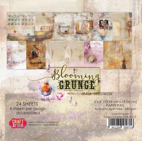 Craft & You Design: Blooming Grunge 12x12 - paperikokoelma