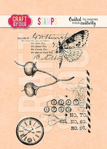 Craft & You: Blooming Grunge -leimasinsetti