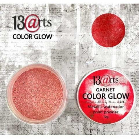 13arts Color Glow Metallic Watercolor: Garnet 10g - jauhevesiväri