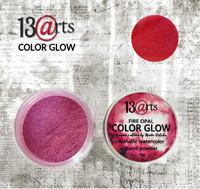13arts Color Glow Metallic Watercolor: Fire Opal 10g - jauhevesiväri