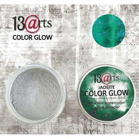 13arts Color Glow Metallic Watercolor: Jadeite 10g - jauhevesiväri