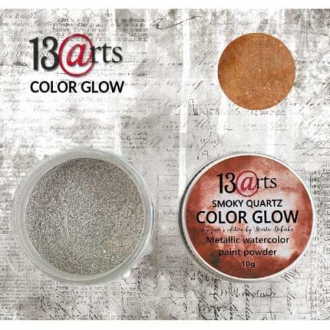13arts Color Glow Metallic Watercolor: Smoky Quartz  10g - jauhevesiväri