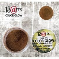 13arts Color Glow Metallic Watercolor: Tiger Eye 10g - jauhevesiväri