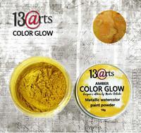 13arts Color Glow Metallic Watercolor: Amber 10g - jauhevesiväri