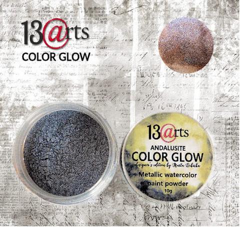 13arts Color Glow Metallic Watercolor: Andalusite 10g - jauhevesiväri
