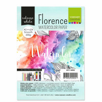 Vaessen Creative: Florence Smooth 200gsm akvarellipaperipakkaus A5/ 24 arkkia